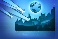 Stock Market Graph Royalty Free Stock Image