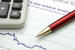 Stock-market graph Royalty Free Stock Photos