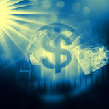 Stock Market Graph on abstract  background Royalty Free Stock Photo