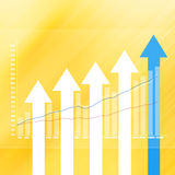 Stock Market Graph on abstract  background Royalty Free Stock Image