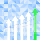 Stock Market Graph on abstract  background Stock Image