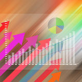 Stock Market Graph on abstract  background Royalty Free Stock Photography