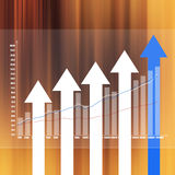 Stock Market Graph on abstract  background Stock Photo