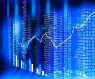 Stock market  Graph Royalty Free Stock Image