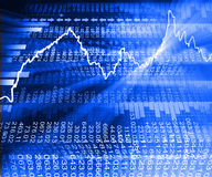 Stock market  Graph. On abstract blue background Stock Photo