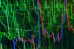 Free Stock Market Graph And Bar Chart Price Display. Abstract Financial Background Trade Colorful Green, Blue, Red Abstract. Data On Li Stock Photography - 44296242