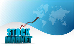 Stock market graph arrow blue business. Illustration design background Stock Images