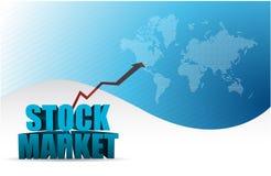 stock market graph arrow blue business Stock Images