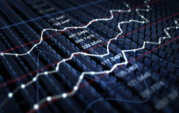Stock market graph background Stock Images
