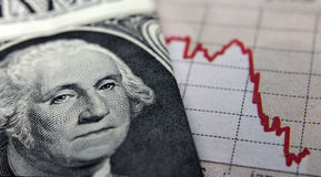 Stock Market Graph & banknote Stock Photos