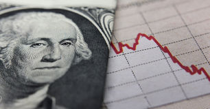 Stock Market Graph & banknote Stock Image