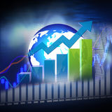 Stock  Market  Graph  and Bar Chart Royalty Free Stock Photography