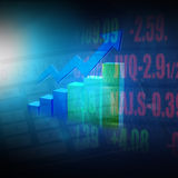 Stock  Market  Graph  and Bar Chart Royalty Free Stock Photos