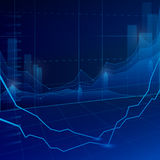 Stock Market Graph Royalty Free Stock Photo