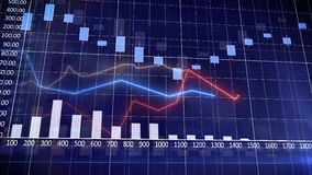 Stock Market Graph and Bar Chart. Desktop. Abstraction Stock Images