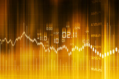Stock Market Graph and Bar Chart Stock Images