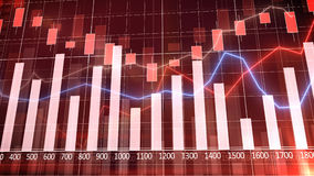 Stock Market Graph and Bar Chart Royalty Free Stock Photos