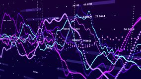 Stock market graph. Big data visualization. investment graph concept. 3d rendering. stock photos