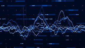 Stock market graph. Big data visualization. investment graph concept. 3d rendering royalty free illustration