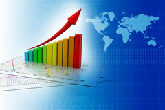 Stock Market Graph Royalty Free Stock Photography