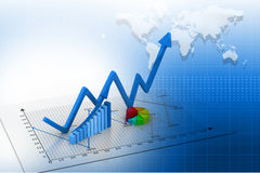 Stock Market Graph Stock Photography