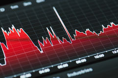 Stock market graph Royalty Free Stock Images
