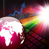 Stock Market Graph Colorful elegant on abstract background Royalty Free Stock Photography