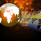 Stock Market Graph Colorful elegant on abstract background Stock Image