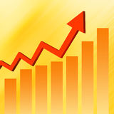 Stock Market Graph  Colorful elegant on abstract background Stock Photos