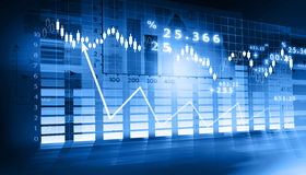 Stock Market Graph. Digital illustration of Stock Market Graph Royalty Free Stock Photos
