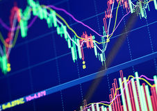 Stock market graph Royalty Free Stock Photos