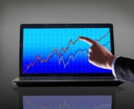 Stock Market Graph With Going Up Stock Photo