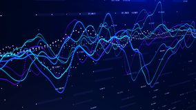 Stock market graph investment graph concept 3d rendering. stock illustration