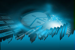 Stock market graphs Stock Image