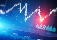 Free Stock Market Graphs Royalty Free Stock Images - 40026889