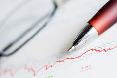 Financial accounting stock market graphs Royalty Free Stock Photography