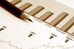 Stock market graphs. Royalty Free Stock Photography