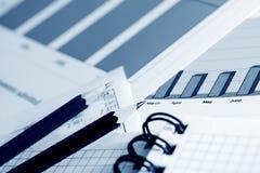 Stock market graphs. Stock Photography