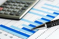Stock market graphs. royalty free stock image