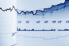 Stock market graphs Royalty Free Stock Photos