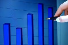 Stock market graphs. Royalty Free Stock Photo