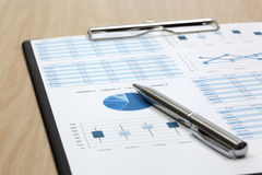 Stock market graphs analysis. Report Stock Photography