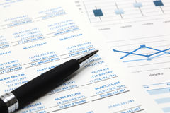 Stock market graphs analysis Stock Image