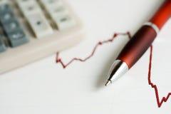 Stock market graphs analysis Royalty Free Stock Images