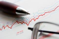 Stock market graphs analysis Stock Images