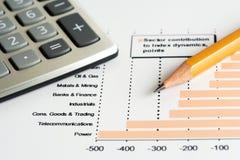 Stock market graphs analysis. Stock market graphs monitoring and accounting stock photos