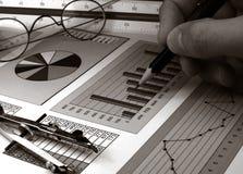 Stock market graphs Royalty Free Stock Photography