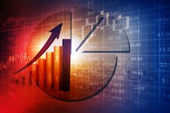 Stock market graphs. Business chart Stock Photography