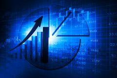 Stock market graphs. Business chart Stock Image