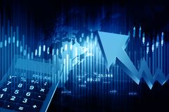 Stock market graphs. Business chart Stock Photo